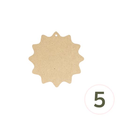 MDF 레이스데코판 15.5cm(5개입) Q-06-214