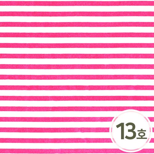 패브릭스티커 13호*줄무늬*핑크 21x29cm EX-06