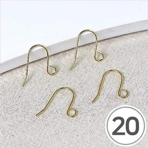 귀걸이 고리 부속*금색 (20개입) B-06-02