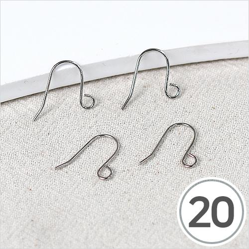 귀걸이 고리 부속*은색 (20개입) B-06-02