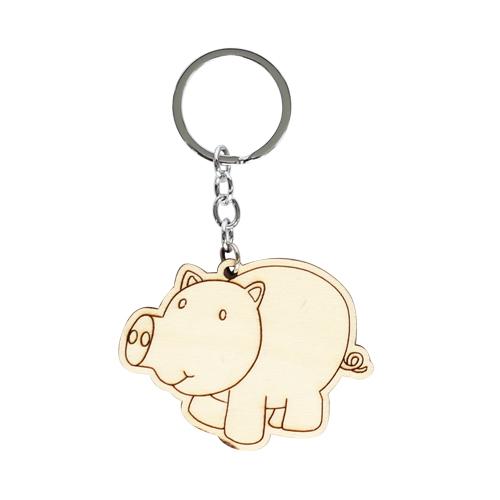 색칠우드 열쇠고리*돼지 6.6x5cm A-08-116