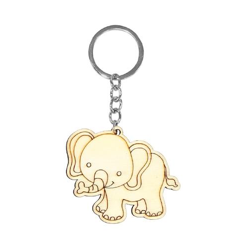 색칠우드 열쇠고리*코끼리 6.3x5.4cm A-08-124