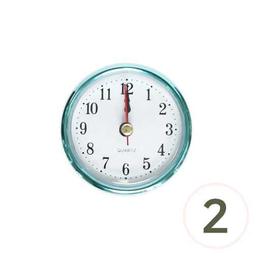 6.5cm알시계*하늘*아라비아숫자 (2개입) O-07-213