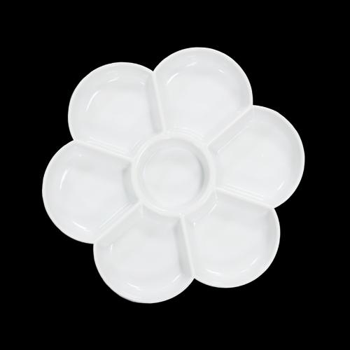 동양화 팔레트 꽃접시 17.5x17.5cm N-01-110