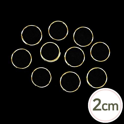2cm이중오링*금색(30개입) D-04-172