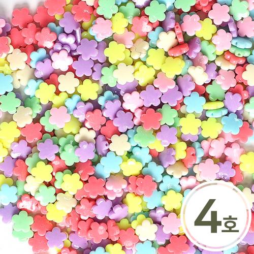 파스텔비즈4호*5각꽃14 mm (250g입) B-04-257