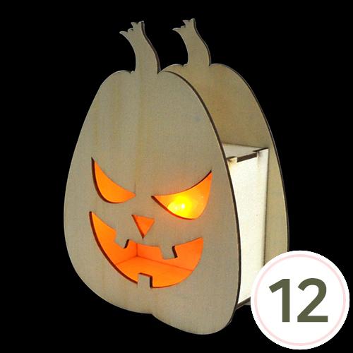 [세트상품]호박무드등*12세트*12.5×16.5cm*폭5cm(미니촛불 노랑등*12개입포함)
