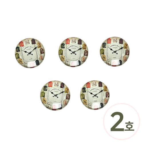 레진원형시계*2호 25mm(5개입) B-04-288