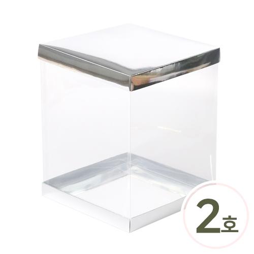 PVC 케이스*고급형*2호* 20x20x25cm (2세트입) O-04-111