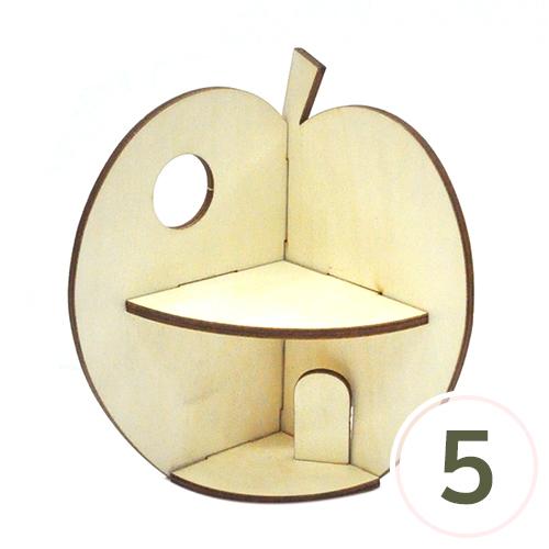 사과모양 2단 선반*9.3x14.8cmx9.3cm*(5개입) T-06-113