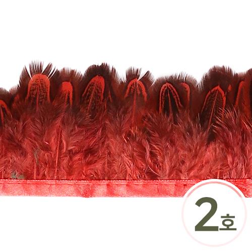 깃털2호 소*빨강 5cm(30cm입) E-01-02