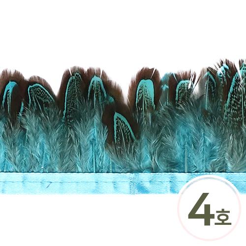 깃털4호 소*파랑  5cm(30cm입) E-01-02