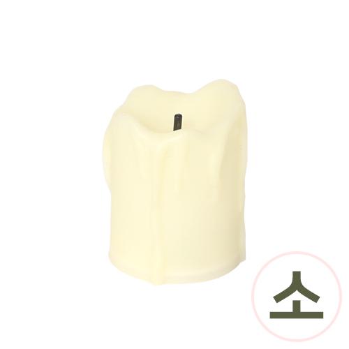 촛농 촛불*아이보리*소*4x5cm(12개입) O-04-108