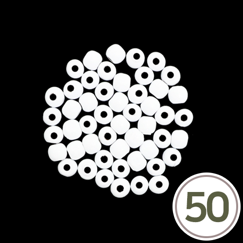 목구슬*하양 10mm (50개입) B-04-332