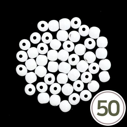 목구슬*하양 13mm (50개입) B-04-331