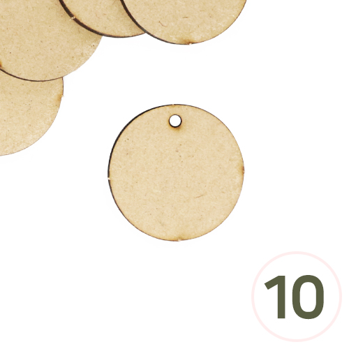 MDF 1구멍 원형판 3.6cm 두께3mm(10개입) R-06-309