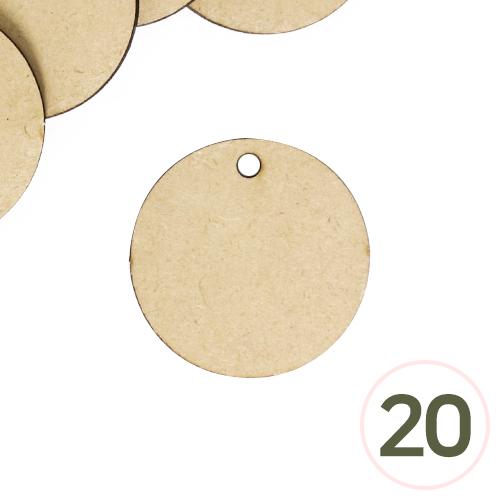 MDF 1구멍 원형판 4.3cm 두께3mm(20개입) R-06-310