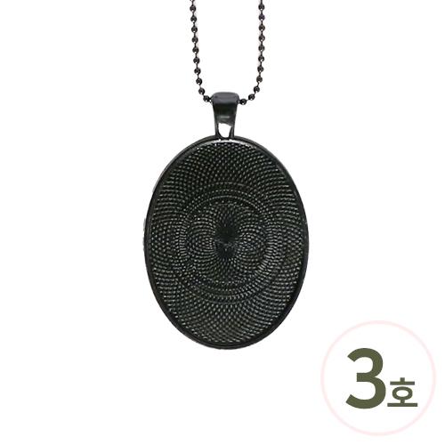군번목걸이팬던트(검정)3호*타원* 30x40mm(5개입) B-04-350