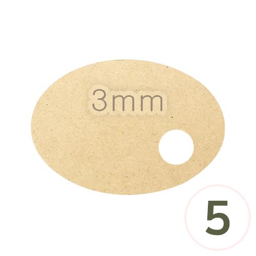 LED용 타원데코판두께3mm20x14cm(5개입) M-04-211