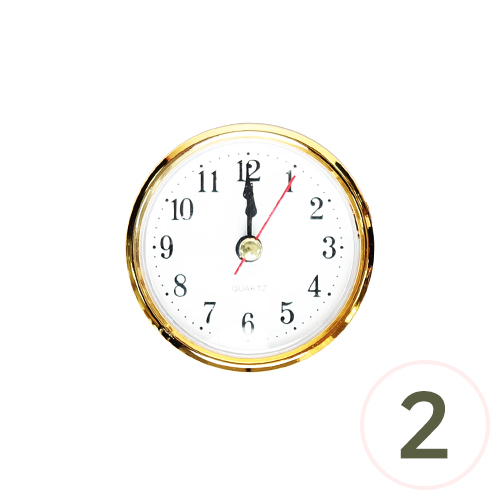 6.5cm 알시계*로즈골드*아리비아 숫자(2개입) P-06-211