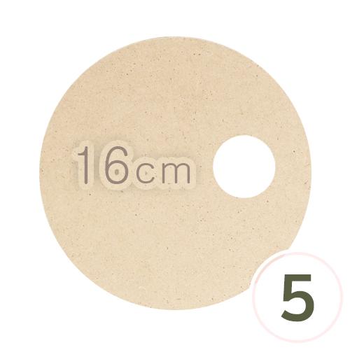 LED용*원형데코판 16cm 두께 3mm(5개입) M-09-209