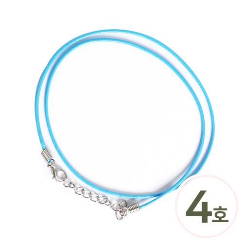 형광목걸이줄 4호*파랑*45cm 두께 5mm(10개입) S-01-461
