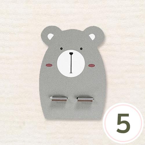 폰거치대*곰*8.7x12cm(5개입) S-01-436