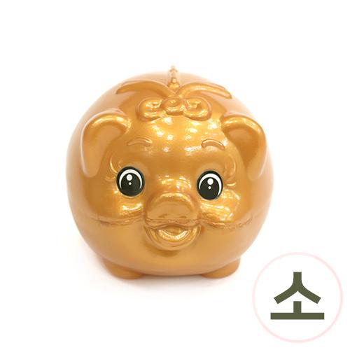 황금 돼지 저금통*소*8x7.5x9.5cm