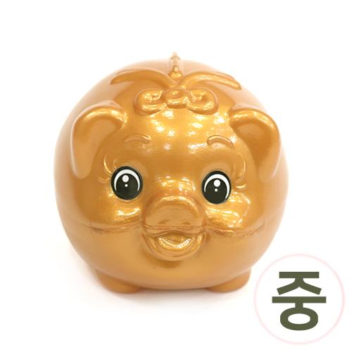 황금 돼지 저금통*중*10x9x11cm