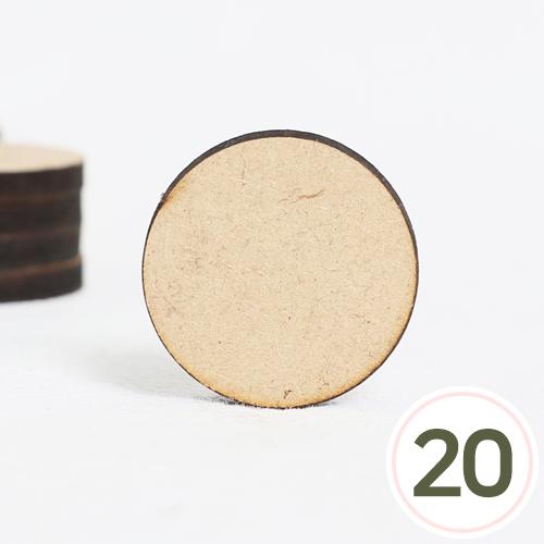 MDF 원형판2.9cm*두께4mm 구멍없음(20개입) R-06-320