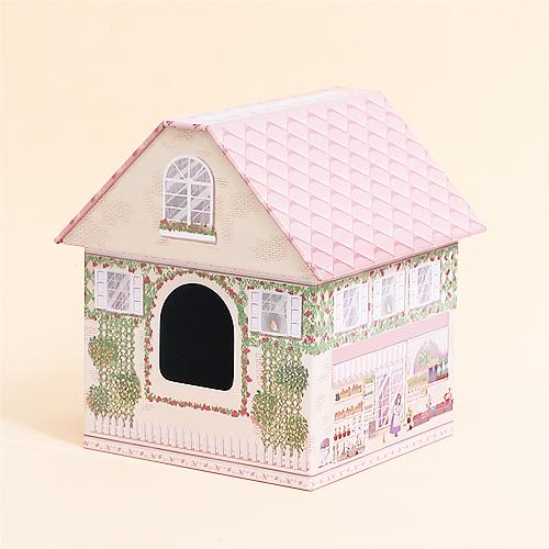 철제집*핑크*14.3x14.5x15.8cm I-11-202