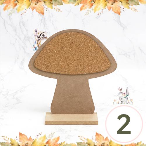 버섯 탁상 콜크판 20x20.5x7cm(2개입) Q-11-110