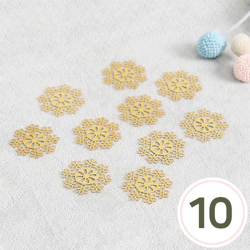 전통금장무늬 *꽃 30x30mm(10개입) S-04-445