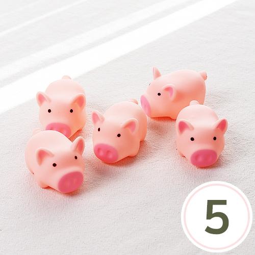 피치 돼지4.5x3.5cm( 5개입 ) EX-09-216