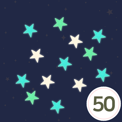 야광 별 스티커 (50개입) C-09-208