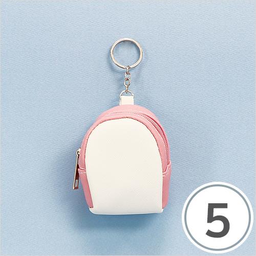 백팩 가방걸이*하양+핑크 (5개입)*8x10cm(고리부분8cm) E-11-110