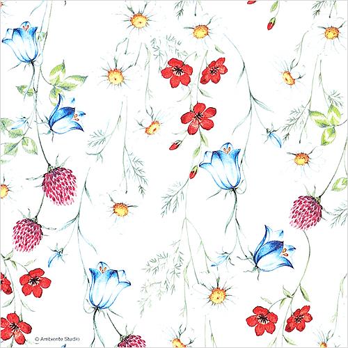 (냅스) 0092 수입냅킨 33*33cm MIXED WILD FLOWERS WHITE