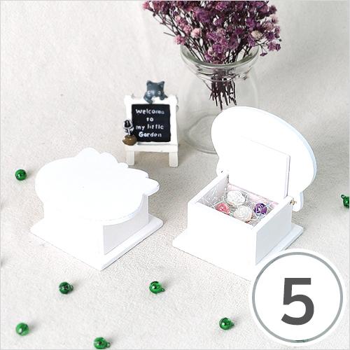 고양이 보석함 7.5x6.5x3.5cm (5개입) O-10-109