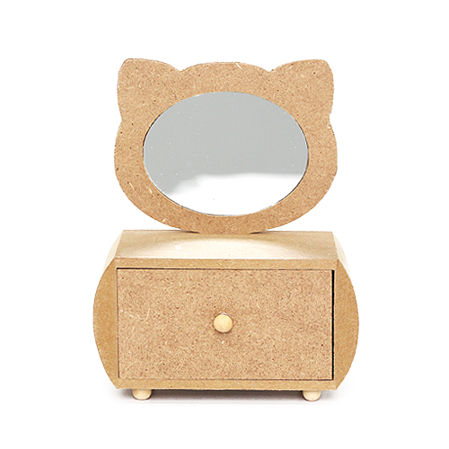 고양이 경대 1칸 서랍 12.5x7x15cm R-08-212