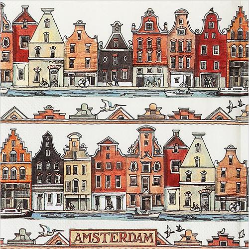 (냅스) 0659 수입냅킨 33*33cm AMSTERDAM