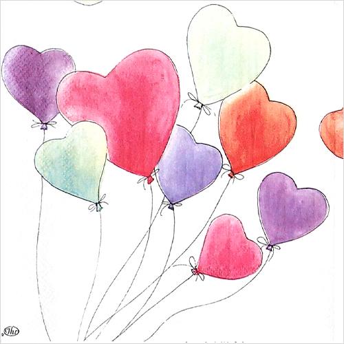 (냅스) 0818 수입냅킨 33*33cm LOVE IS IN THE AIR white
