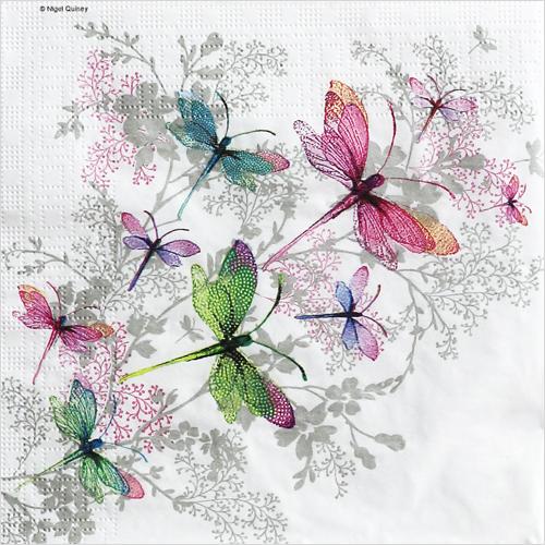(냅스) 1494 수입냅킨 33*33cm Dragonfly Groove