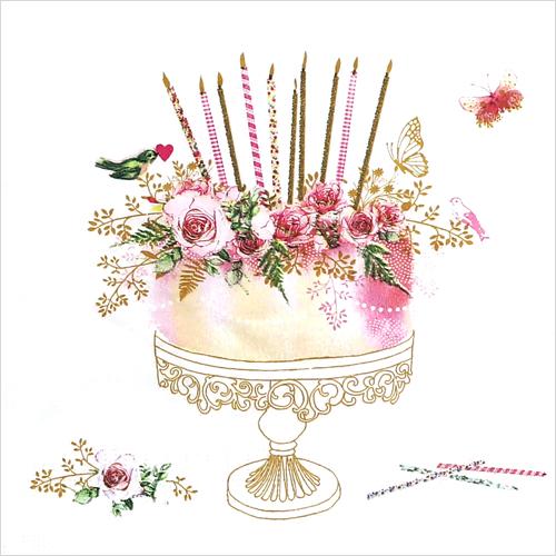 (냅스) 1569 수입냅킨 33*33cm Birthday Cake