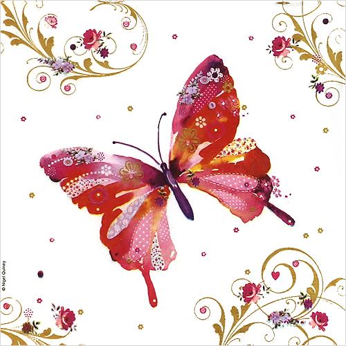 (냅스) 1574 수입냅킨 33*33cm Pretty Butterfly