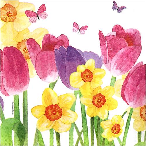 (냅스) 1587 수입냅킨 33*33cm Hello Spring