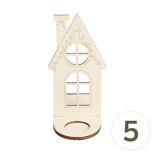 원목 하우스 무드등데코판 9x17.5x16cm*5개입 (미니촛불 별도구매)