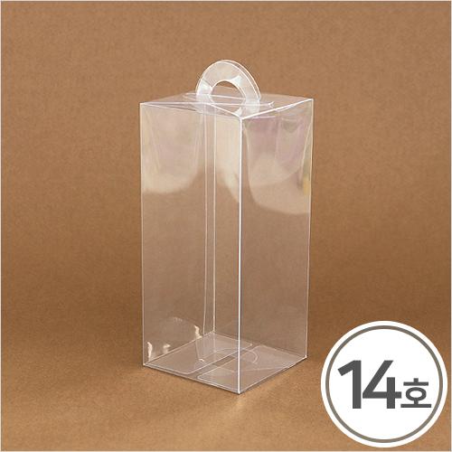 PVC케이스*고급형* 14호 손잡이형7.5x7.5x17cm(5개입) Q-09-204
