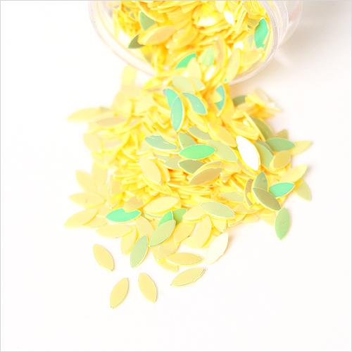 스팡클 잎사귀 노랑 AB 2x4mm(약3g입) WX-10-175