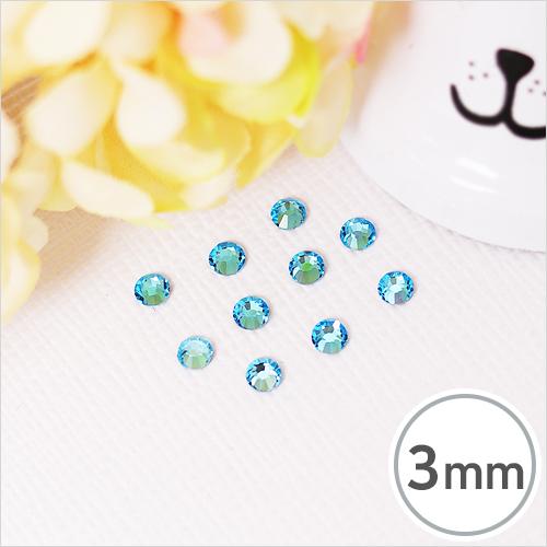 SS10-6 Aqua Bohemica(아쿠아 보헤미카) 3mm(약300개입)*핫픽스 EX-03