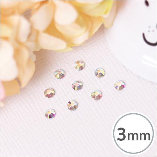 SS10-12 Crystal AB(크리스탈 AB) 3mm(약300개입)*핫픽스 EX-03